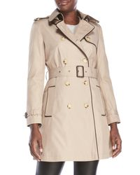 Lauren by Ralph Lauren   Natural Petite Belted Trench Coat   Lyst