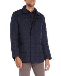 Marc New York | Blue Quilted Auburn Field Jacket for Men | Lyst