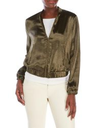 Re:named | Green Silky Bomber Jacket | Lyst