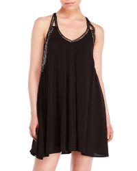 City Triangles - Black Lace Racerback Swing Dress - Lyst