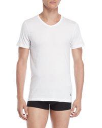 U.S. POLO ASSN. - 3-pack White Slim Fit V-neck Tees for Men - Lyst