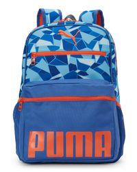 PUMA - Blue & Orange Meridian Backpack for Men - Lyst