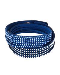 Swarovski - Blue Slake Gradient Crystal Wrap Bracelet - Lyst