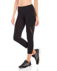 90 Degree By Reflex - Black Fishnet Pocket High-waist Cropped Leggings - Lyst