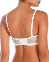 La Perla - White Knit And Lace Bra - Lyst