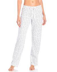 Calvin Klein | White Logo Print Lounge Pants | Lyst