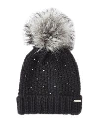 Steve Madden - Black Winter Glint Knit Pom-Pom Beanie - Lyst