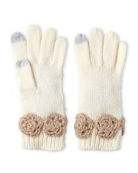Betsey Johnson | Multicolor Winter Bloom I-Touch Gloves | Lyst