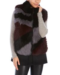 Belle Fare   Black Real Multicolor Raccoon Fur Vest   Lyst