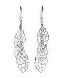 Ron Hami - Metallic Sterling Silver Lace Earrings - Lyst