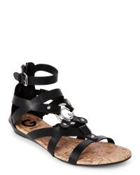 G by Guess | Black Jackman Gladiator Sandals | Lyst