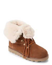 BEARPAW | Brown Hickory Kayla Ii Lined Lace-Up Waterproof Boots | Lyst