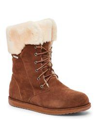 EMU | Brown Oak Shoreline Lace-Up Sheepskin Boots | Lyst