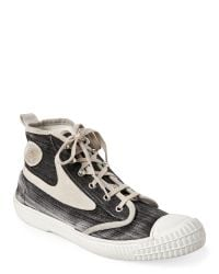 DIESEL   Gray Black & Grey Oyster Dragon 94 Draags94 Mid Sneakers for Men   Lyst