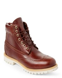 """Timberland - Brown Premium 6"""" Brogue Boots for Men - Lyst"""