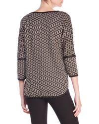 Max Studio - Multicolor Knit Jacquard Sweater - Lyst