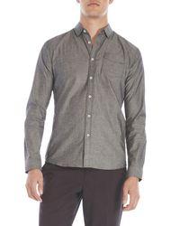 Descendant Of Thieves - Gray Diamond Print Button Front Shirt for Men - Lyst