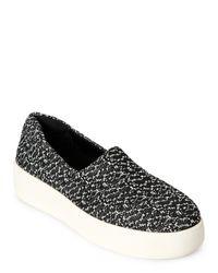 Steven by Steve Madden | Black & White Hilda Platform Slip On Sneakers | Lyst