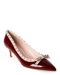 kate spade new york | Pink Red Chestnut Mckayla Embellished Pointed Toe Bow Pumps | Lyst