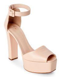 Giuseppe Zanotti | Natural Nude Lavinia Platform Block Heel Sandals | Lyst