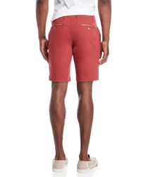 Tailor Vintage - Red Greenwich Slim Fit Stretch Shorts for Men - Lyst
