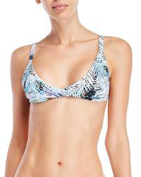 Peixoto - Blue St. Kitts Printed Bikini Top - Lyst