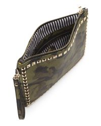 Nila Anthony - Multicolor Camo Studded Clutch - Lyst