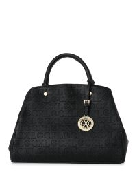 CXL by Christian Lacroix | Black Faye Embossed Convertible Satchel | Lyst