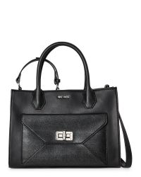 Nine West | Black In The Fold Satchel | Lyst