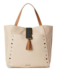 Nine West | Natural Toasted Oat & Dark Camel Casual Tassel Tote | Lyst