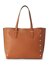 Kenneth Cole Reaction | Brown Saddle Encore Studded Tote | Lyst