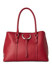 London Fog | Red Beet Snake Hutton Triple Dome Bag | Lyst