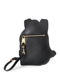 Moschino - Black Backpack Printed Leather Pouch - Lyst