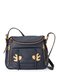 Marc By Marc Jacobs | Navy Blue Natasha Petal To The Metal Shoulder Bag | Lyst