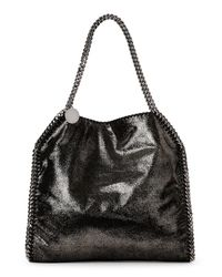 Stella McCartney - Black 'large Falabella - Shaggy Deer' Faux Leather Tote - Lyst