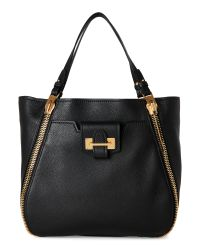 Tom Ford | Black Sedgwick Large Leather Tote | Lyst