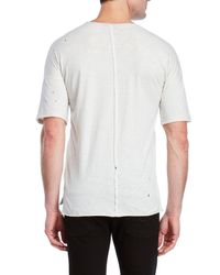 kultivate - White Distressed Slub Knit Tee for Men - Lyst