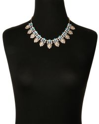 Natasha Couture - Metallic Gold-Tone Floral Statement Earrings Necklace - Lyst