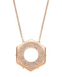 Swarovski | Metallic Rose Gold-Tone Bolt Pendant & Necklace | Lyst