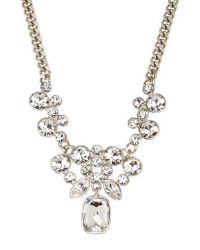 Givenchy | Metallic Y-Shaped Silver-Tone Necklace | Lyst