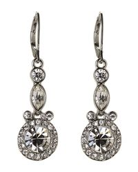 Givenchy - Metallic Accented Silver-Tone Drop Earrings - Lyst