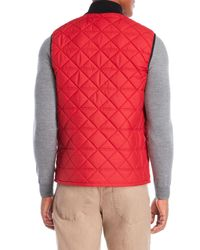 Victorinox - Red Diamond Quilted Vest for Men - Lyst