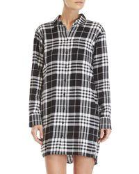 Cheap Monday - White Anti Flannel Shirt Dress - Lyst