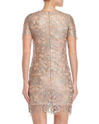 Dress the Population - Natural Megan Sequin Sheath Dress - Lyst