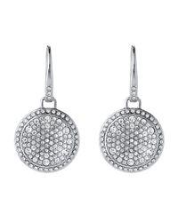 Michael Kors - Metallic Silver-tone Drop Earrings - Lyst