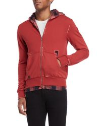 Buffalo David Bitton - Red Fifull Long Sleeve Full Zip Fashion Hoodie for Men - Lyst