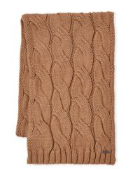 MICHAEL Michael Kors - Brown Cable Knit Muffler for Men - Lyst