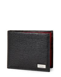 Ferragamo - Black Revival Two-tone Leather Bifold Wallet for Men - Lyst