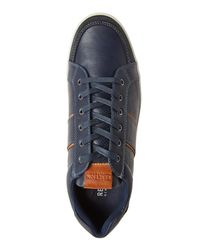 Kenneth Cole Reaction - Blue Navy Leather Low Top Sneakers for Men - Lyst