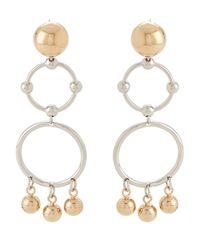 Eddie Borgo - Metallic Gold-tone & Silver-tone Barbell Chandelier Earrings - Lyst